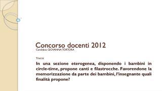 Concorso docenti 2012