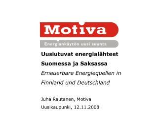 Uusiutuvat energialähteet Suomessa ja Saksassa