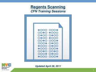Regents Scanning CFN Training Sessions