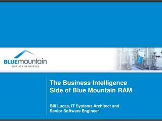 The Business Intelligence Side of Blue Mountain  RAM