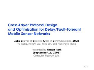 Cross-Layer Protocol Design  and Optimization for Delay/Fault-Tolerant Mobile Sensor Networks