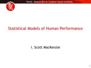 Statistical Models of Human Performance