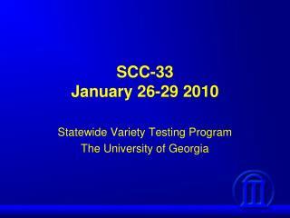 SCC-33 January 26-29 2010