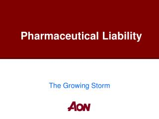 Pharmaceutical Liability