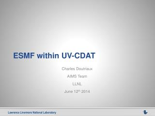 ESMF within UV-CDAT