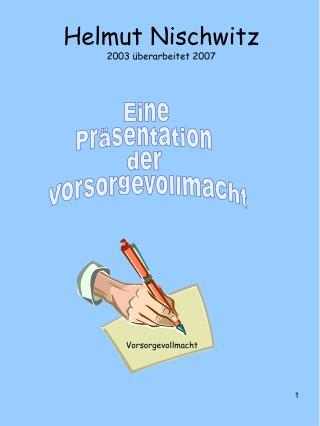 Helmut Nischwitz 2003 überarbeitet 2007