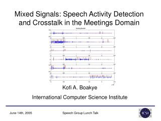 Mixed Signals: Speech Activity Detection and Crosstalk in the Meetings Domain