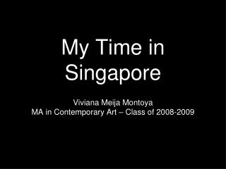 My Time in Singapore