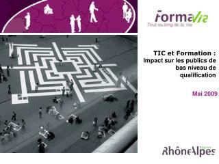 TIC et Formation :  Impact sur les publics de bas niveau de qualification