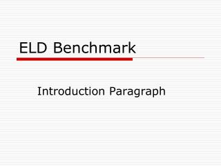 ELD Benchmark