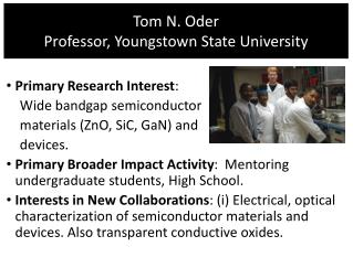 Tom N. Oder Professor , Youngstown State University