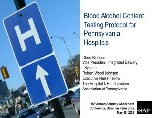Blood Alcohol Content Testing Protocol for Pennsylvania Hospitals