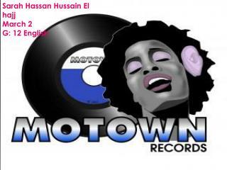 Sarah Hassan Hussain  El hajj  March 2 G: 12 English