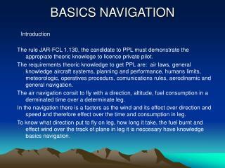 BASICS NAVIGATION