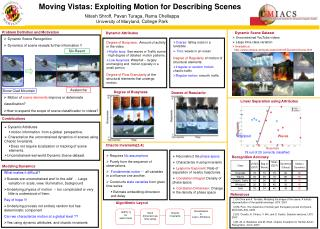 Moving Vistas: Exploiting Motion for Describing Scenes