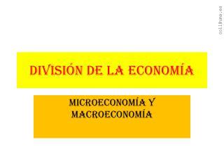 DIVISIÓN DE LA ECONOMÍA