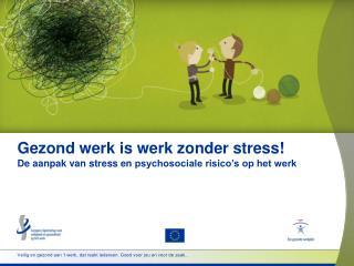 Gezond werk is werk zonder stress! De aanpak van stress en  psychosociale risico's op het werk