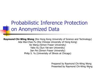 Probabilistic Inference Protection on Anonymized Data