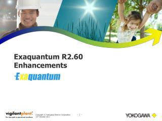 Exaquantum R2.60 Enhancements