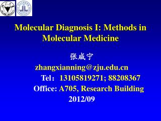Molecular Diagnosis I: Methods in Molecular Medicine