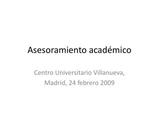 Asesoramiento académico