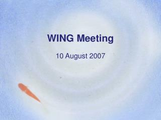 WING Meeting