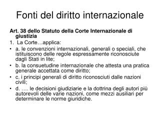Fonti del diritto internazionale