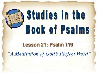 """A Meditation of God's Perfect Word"""
