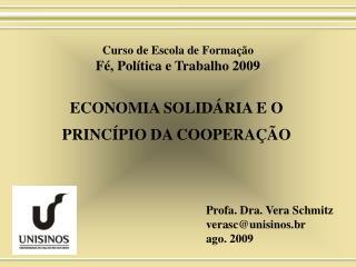 ECONOMIA SOLID RIA E O PRINC PIO DA COOPERA  O