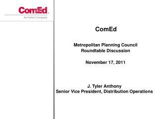 Metropolitan Planning Council Roundtable Discussion November 17, 2011
