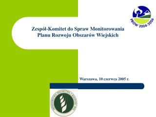 Zespół-Komitet do Spraw Monitorowania Planu Rozwoju Obszarów Wiejskich