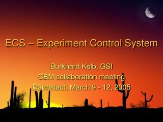 ECS – Experiment Control System
