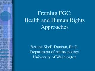 What are the ramifications of framing FGC as a human rights violation?