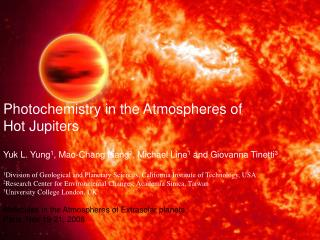 Photochemistry in the Atmospheres of  Hot Jupiters