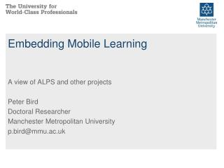 Embedding Mobile Learning