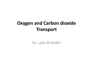 Transport of O2 and CO2
