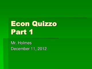 Econ Quizzo Part 1