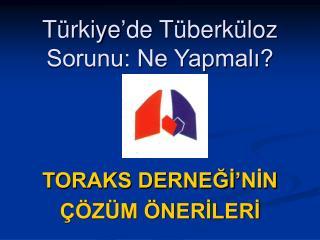 Türkiye'de Tüberküloz Sorunu: Ne Yapmalı?