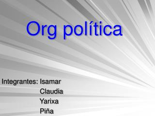 Org pol�tica