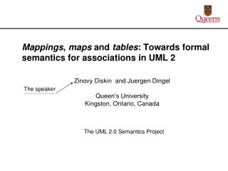 Mappings ,  maps  and  tables : Towards formal semantics for associations in UML 2