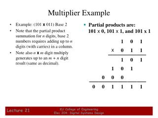 Multiplier Example