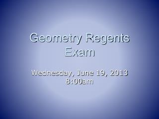 Geometry Regents Exam
