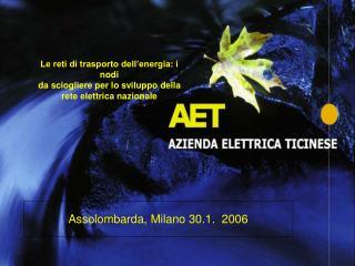 Assolombarda, Milano 30.1.  2006