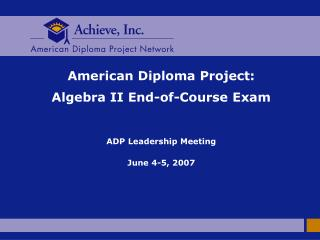 ADP Policy Agenda