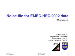 Noise file for EMEC-HEC 2002 data