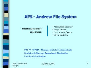 AFS - Andrew File System