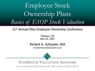 Employee Stock Ownership Plans Basics of ESOP Stock Valuation