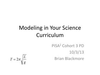 Modeling in Your Science Curriculum