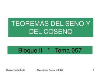 Bloque II   *   Tema 057