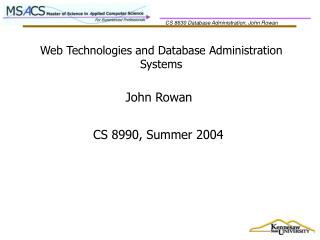 Web Technologies and Database Administration Systems